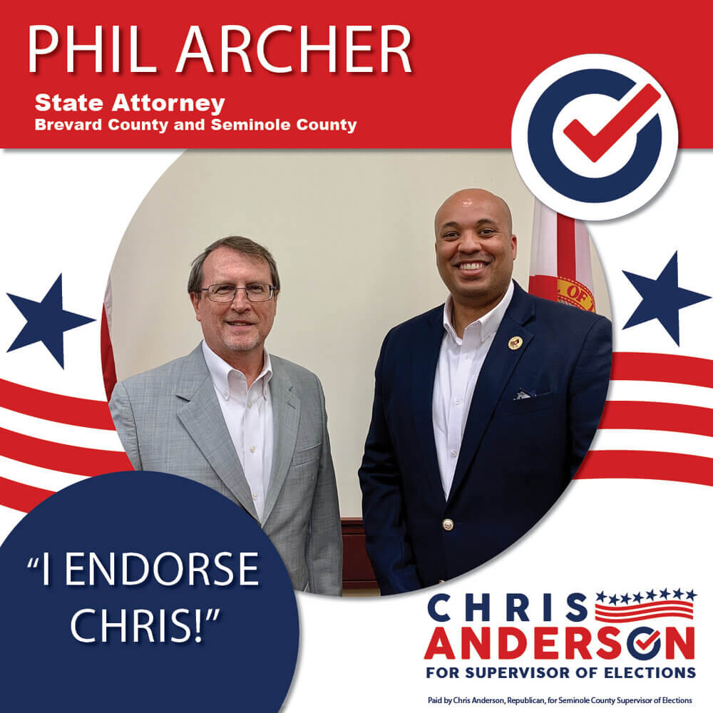 Endorsement Graphic for Phil Archer, State Attorney