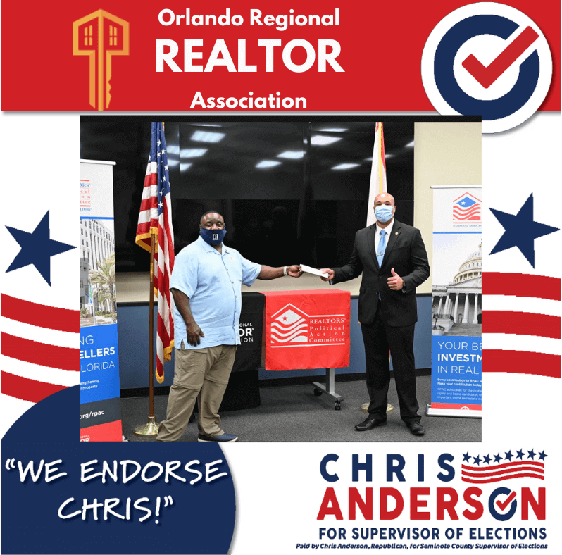 Endorsement Graphic for Orlando Regional Realtor Association