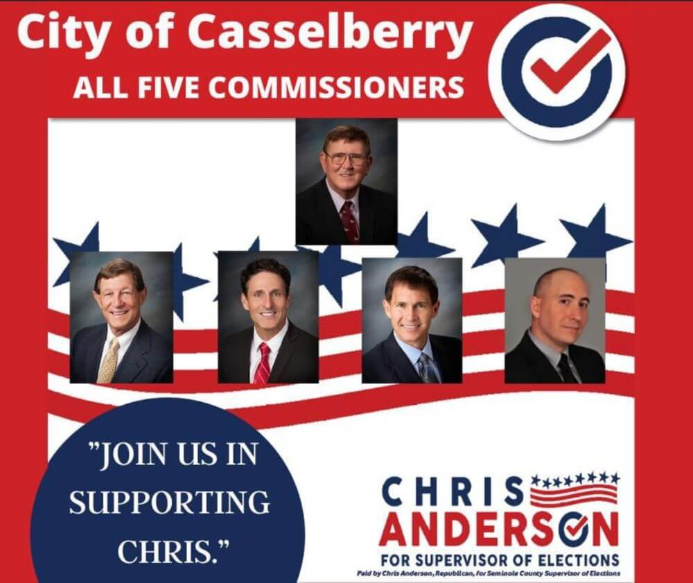 City of Casselberry - all five commissioners endorsement