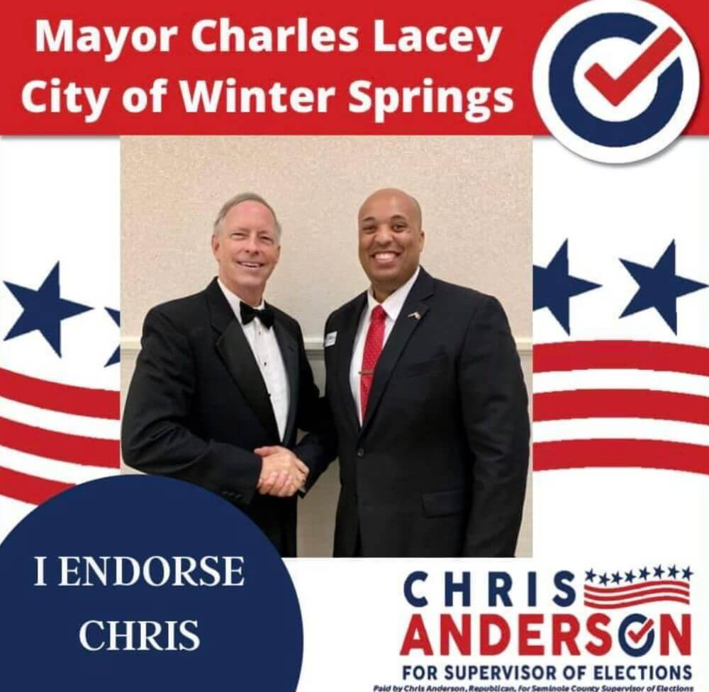 Mayor Charles Lacey, City of Winter Springs endorsement