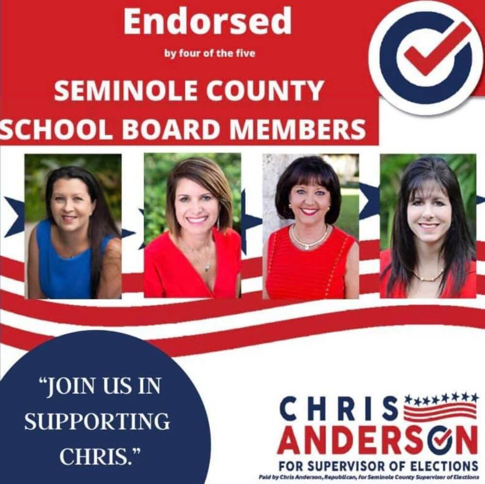 Endorsed by 4 of the 5 Seminole County School Board Members
