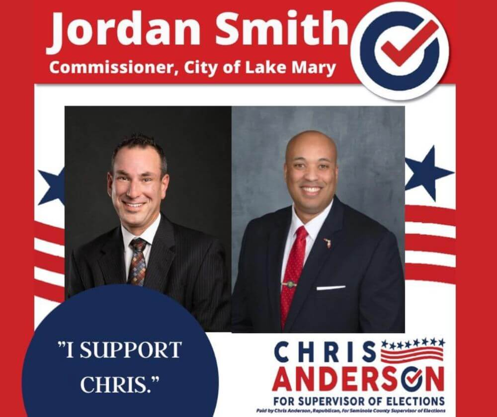 Jordan Smith: Commission, City of Lake Mary endorsement