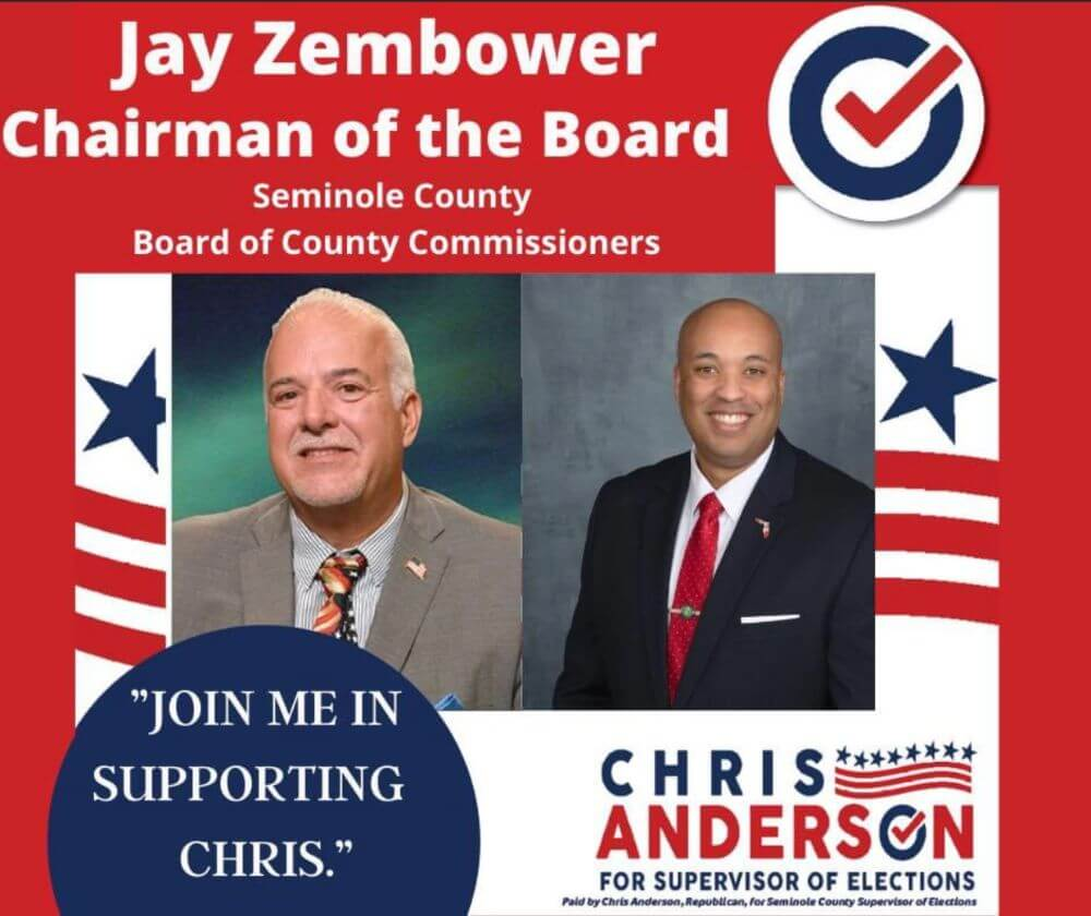 Jay Zembower: Chairman of the Board, Seminole County Board of County Commissioners endorsement