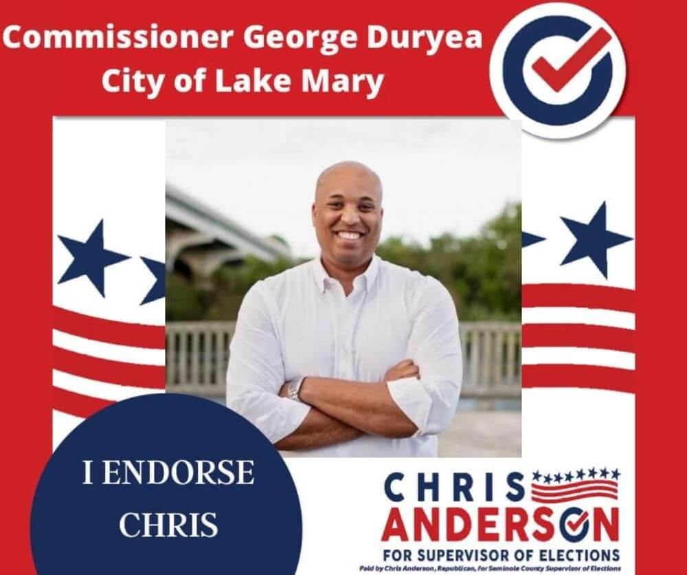 Commissioner George Duryea, City of Lake Mary endorsement