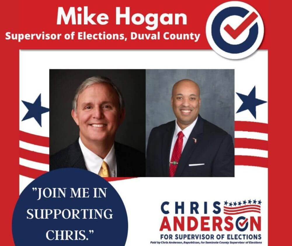 Mike Hogan: Supervisor of Elections, Duval County endorsement