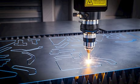 laser on manufacturing machine