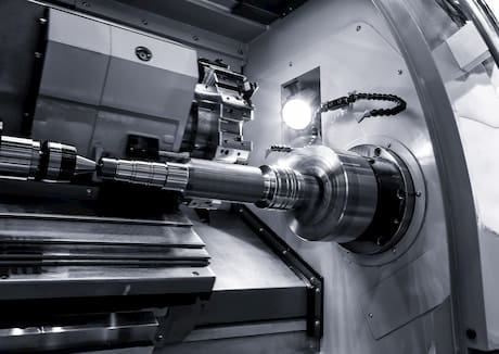 a manufacturing lathe