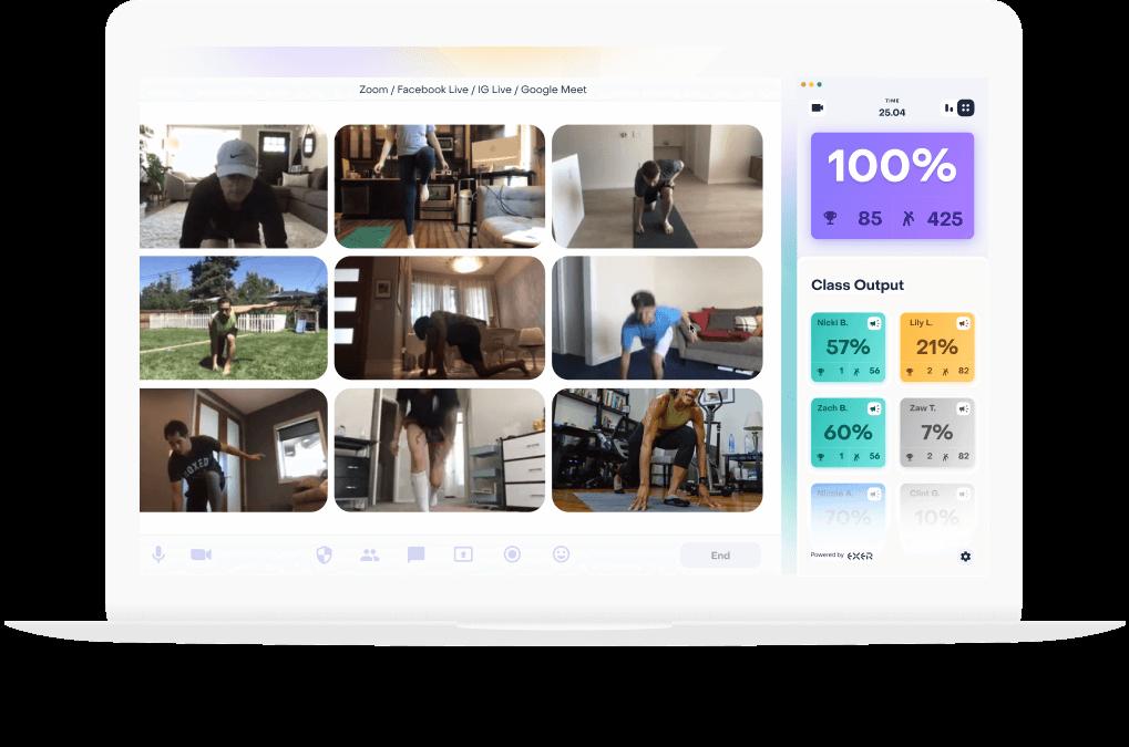 Exer Studio works on Zoom, Google Meet, Facebook, Instagram