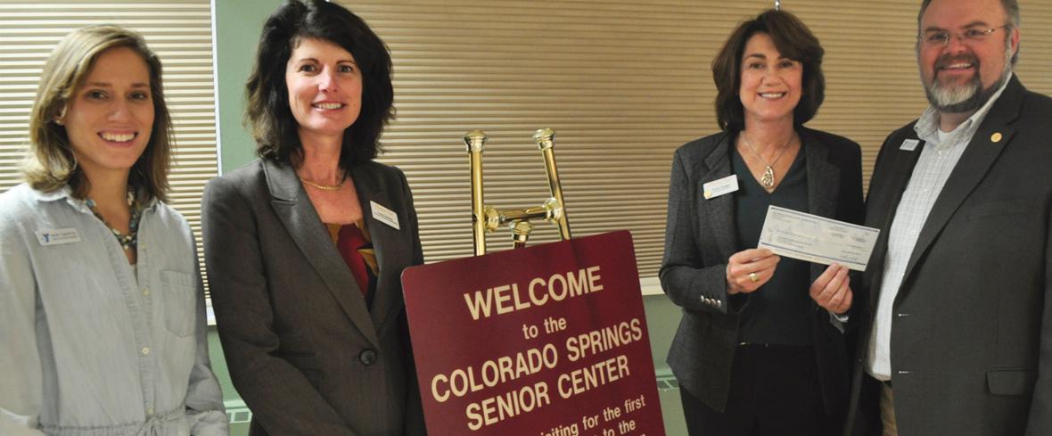 Broadmoor Court Assisted Living Donates $5000 to the Colorado Springs Senior Center