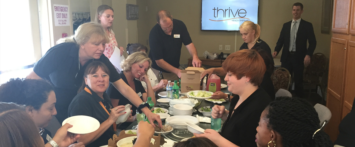 Thrive Health Systems educates the Broadmoor Court Team on Stress in the Workplace