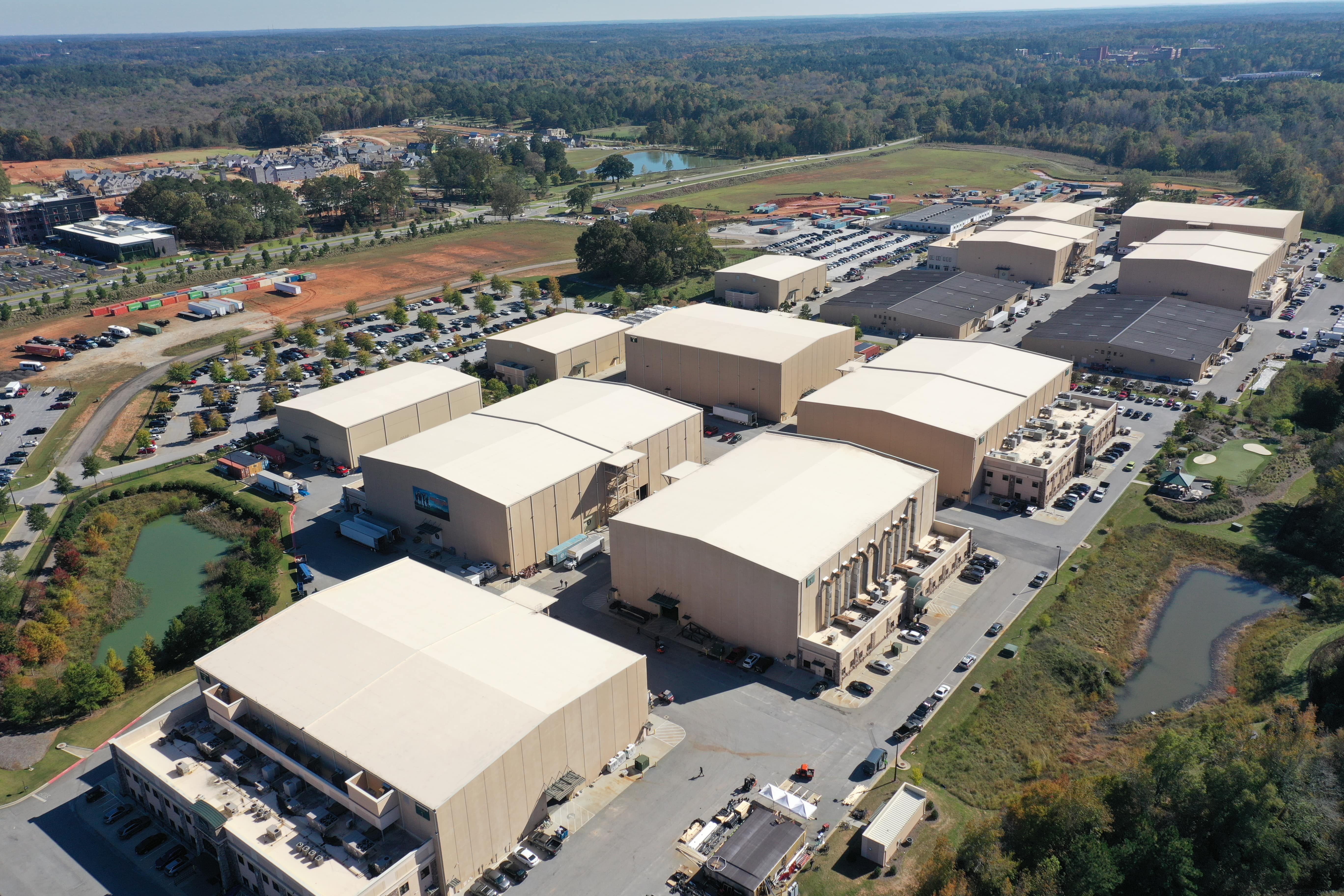 Aerial view of Trilith Studio Lot