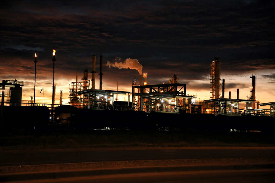 Petrochemical industrial plant with ceramic tubing.