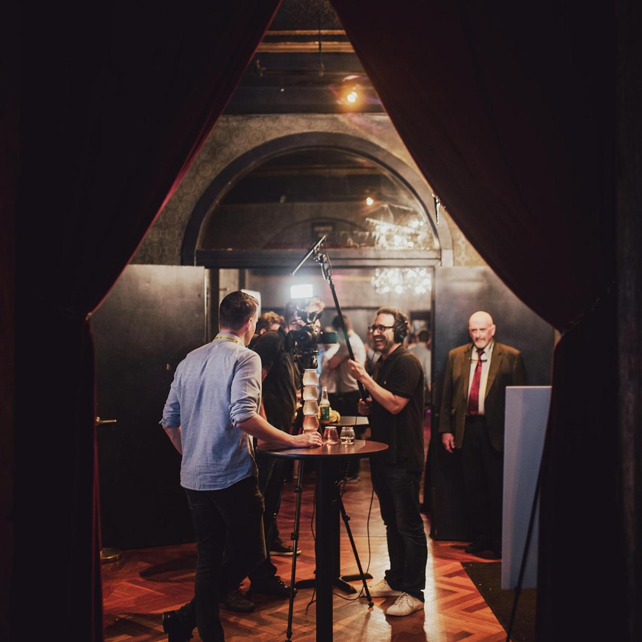 Startup being interviewed
