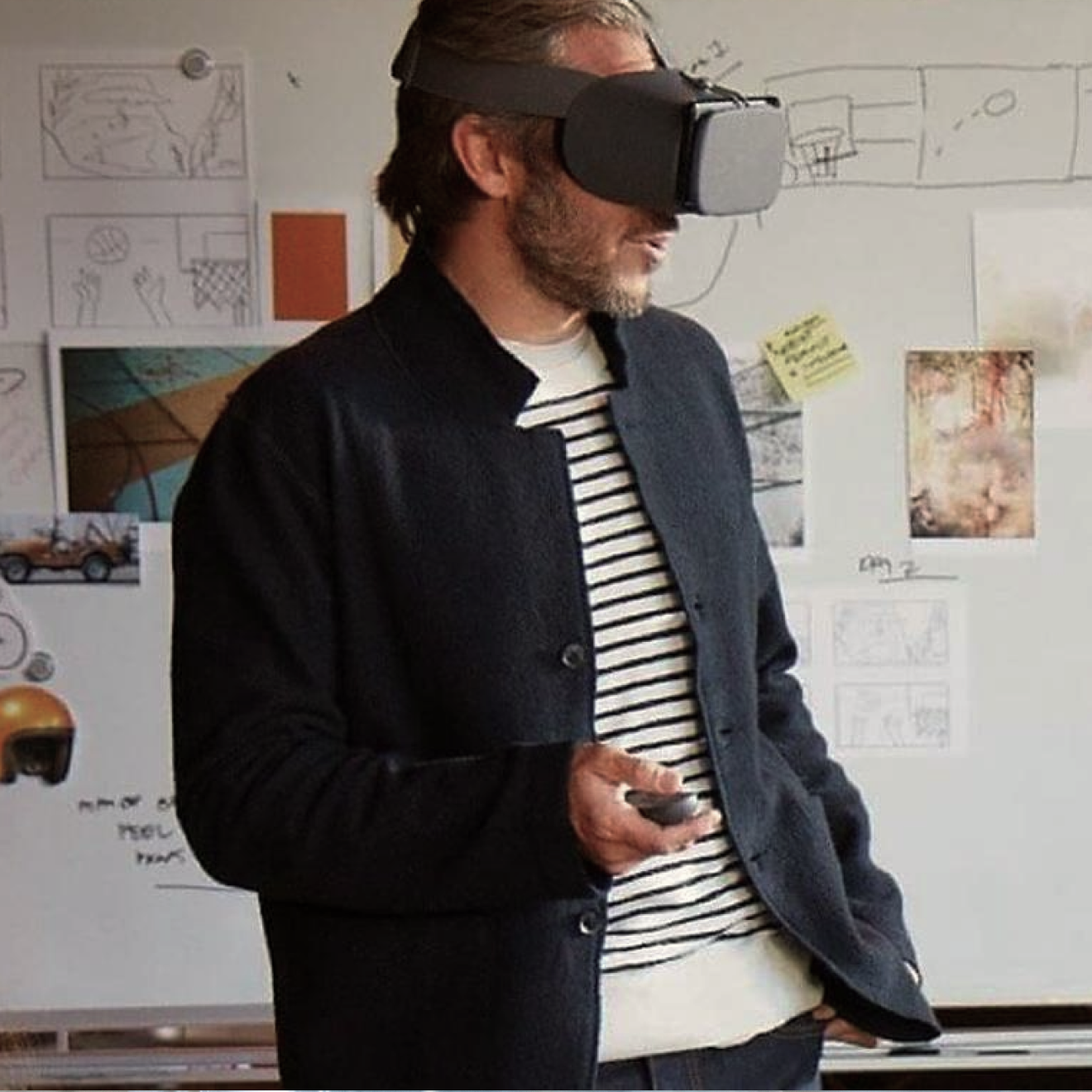 Person with a VR headset on