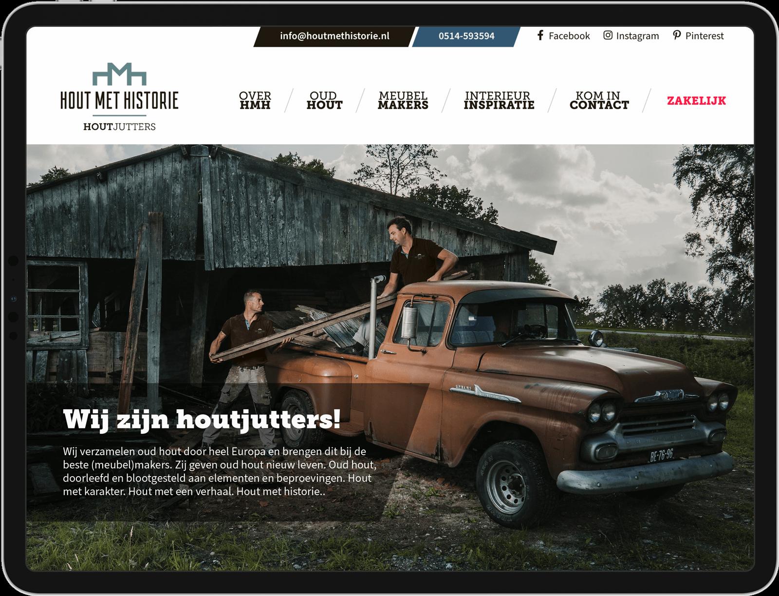 Hout met Historie website