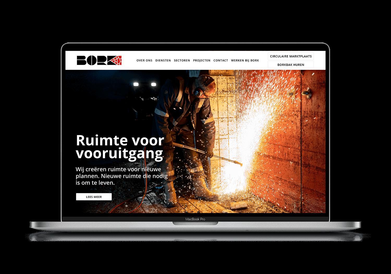 BORK Website voorbeeld