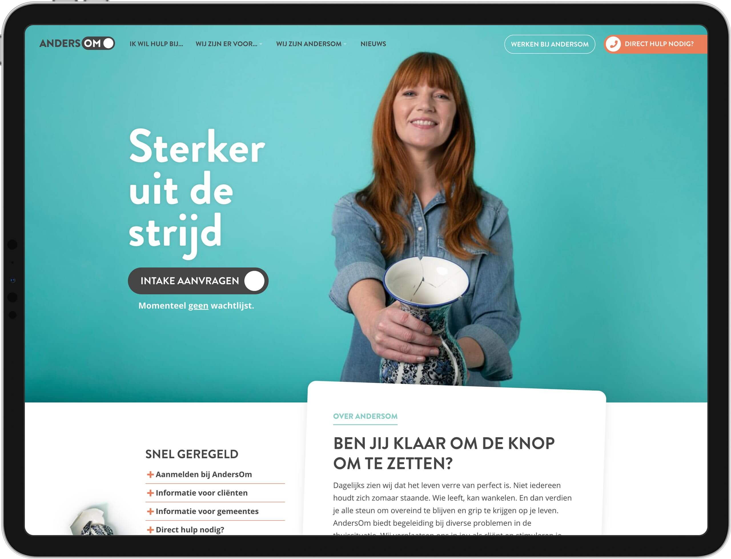 AndersOm Thuisbegeleiding website