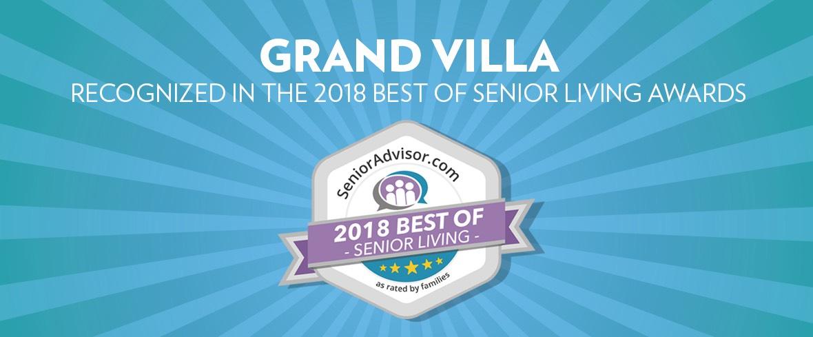 Grand Villa Recognized in the 2018 Best of Senior Living Awards