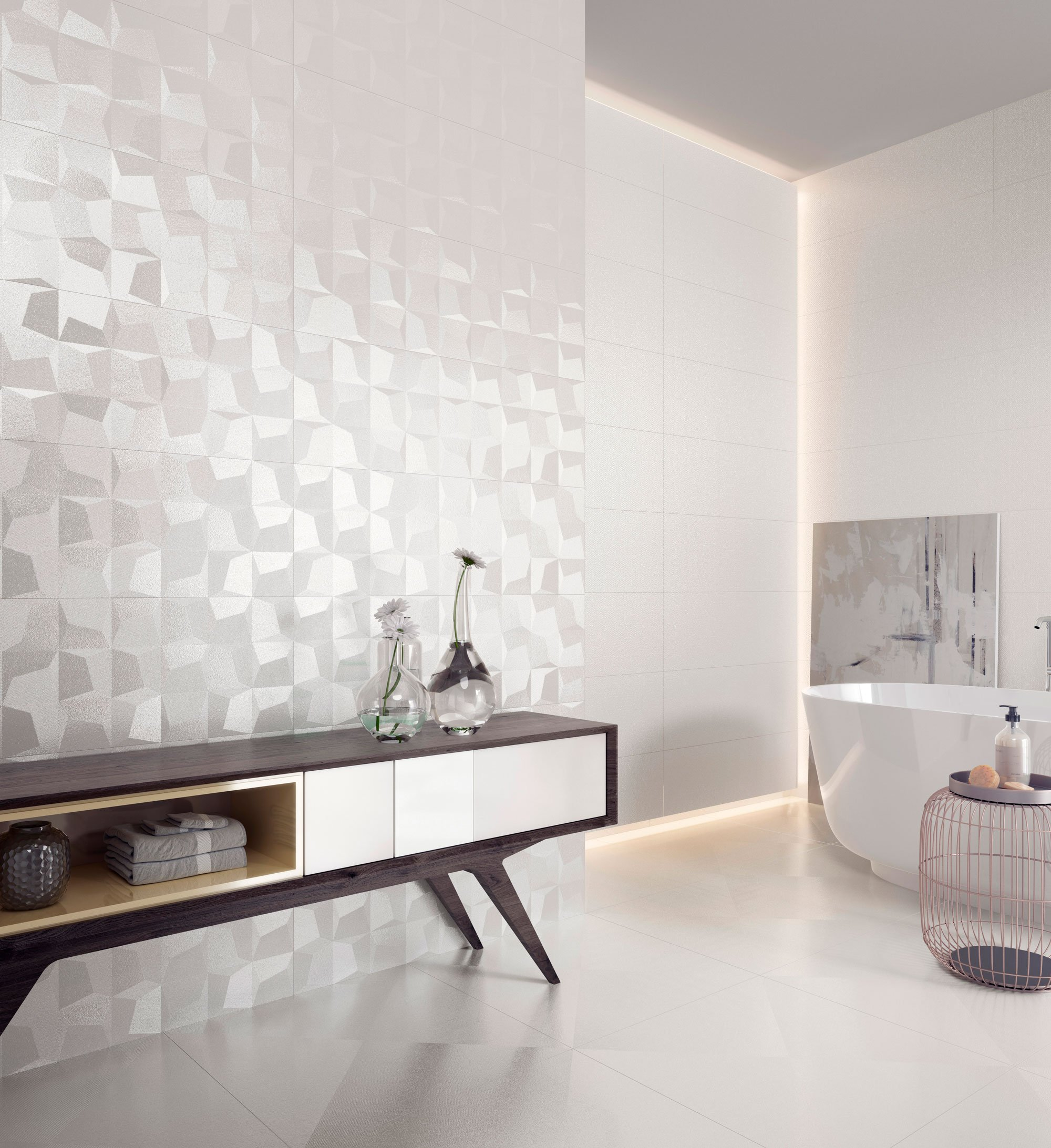 Extensive product line, incorporating trends and innovation in tile for both residential and commercial projects.