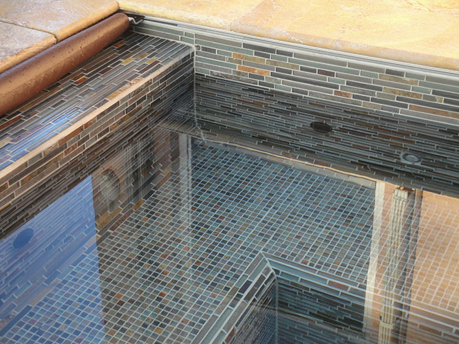 Large range of glass mosaics for a variety of applications.