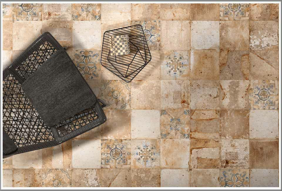 Large range of porcelain tiles designed specifically for the American market.