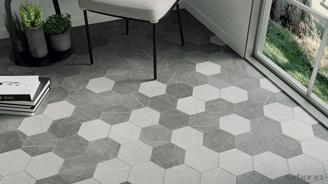 Choose from a broad selection of low-to-mid-range tile, primarily field tile with some mosaics and pebble stone.
