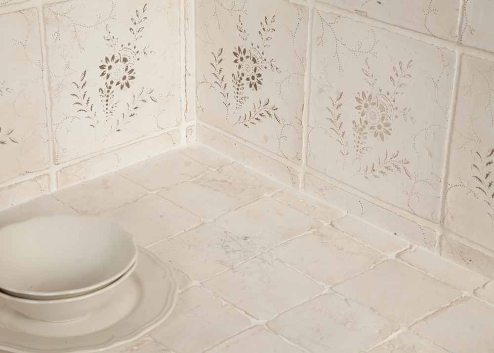 Terracotta tiles hand-made in the USA, available in six distinct TISCA innovations.