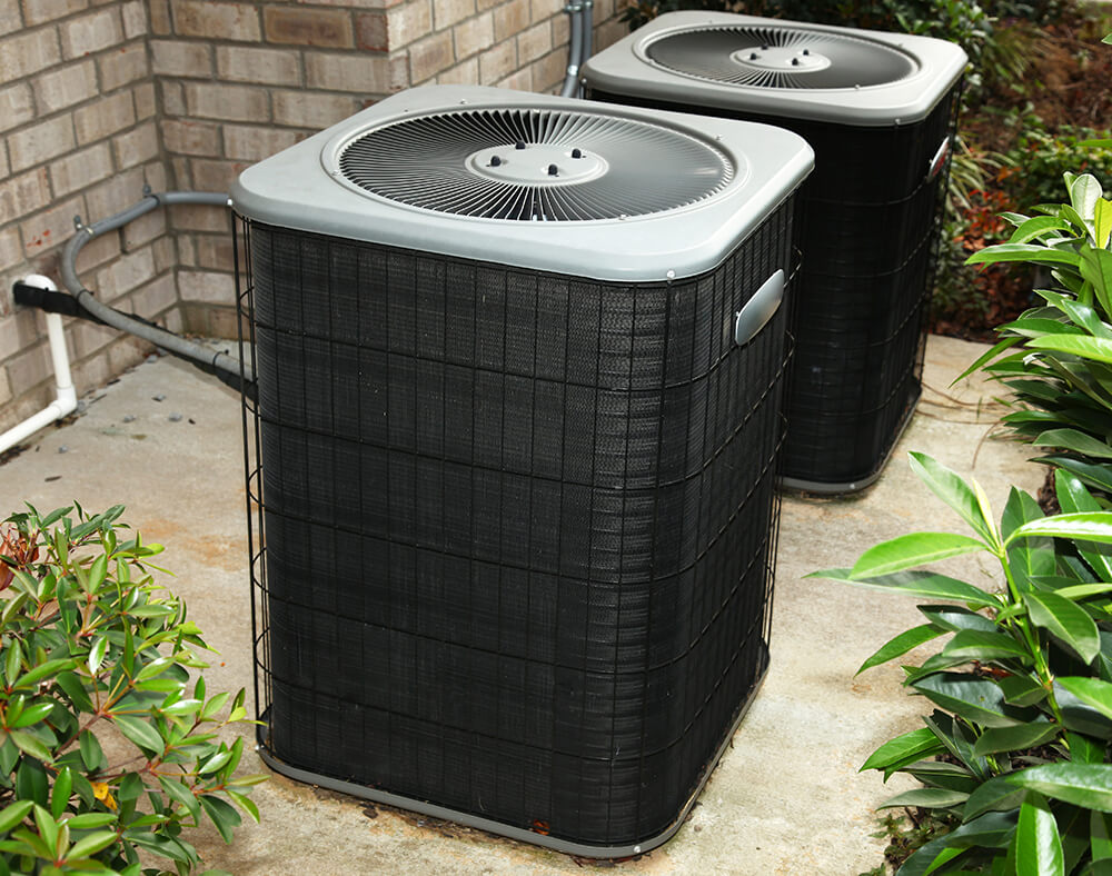 Photo of two exterior AC units