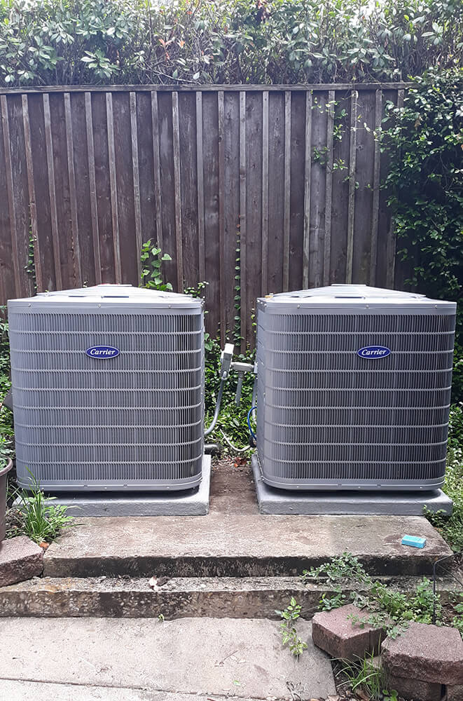 Photo of two beautiful exterior AC units