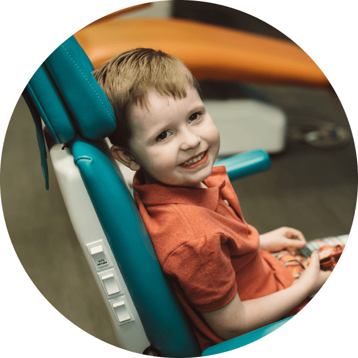 Photo of a boy in a dental chair