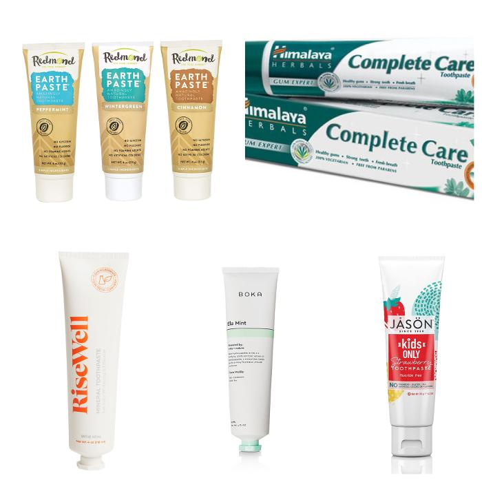 Toothpaste recommendations with natural ingredients