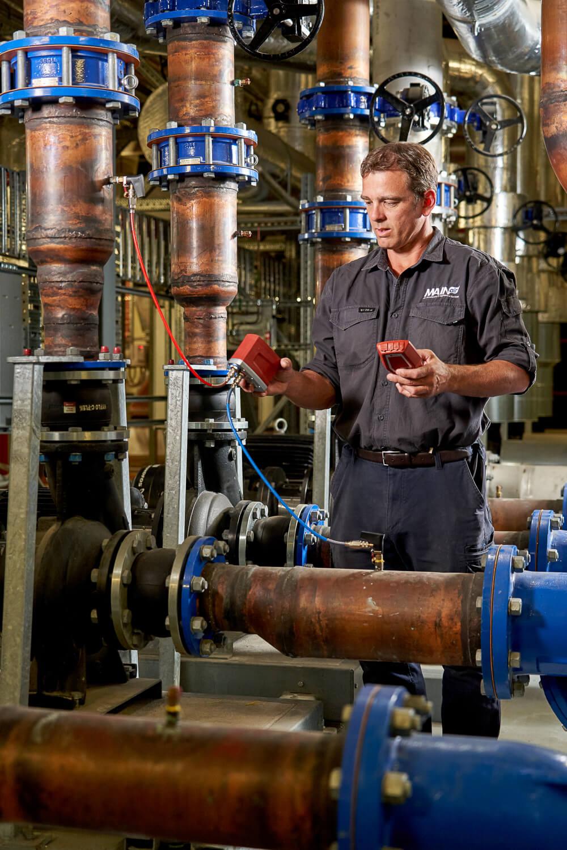 HVAC technician provide maintenance to Flinders University