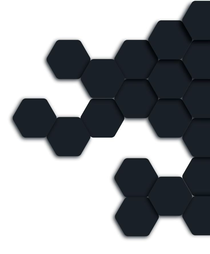 Hexagons on the background