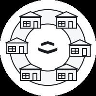 Houses around the Perimeter logo