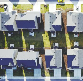 aerial view of a neighborhood