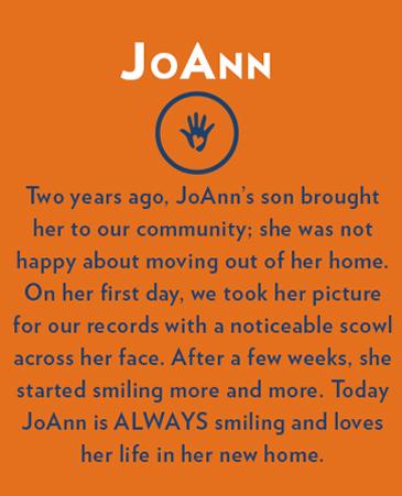 Joann, Bethesda Gardens Monument Assisted Living
