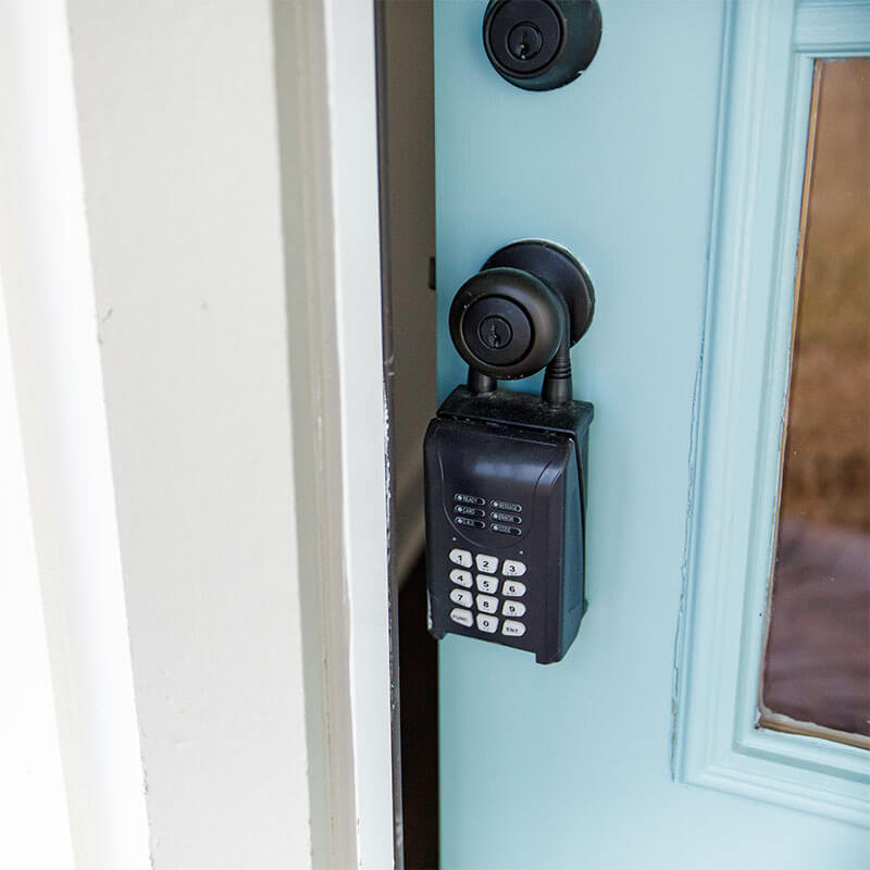 lockbox on door knob of short term rental
