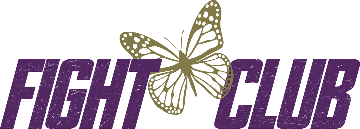 Fight Club with a gold butterfly outline.