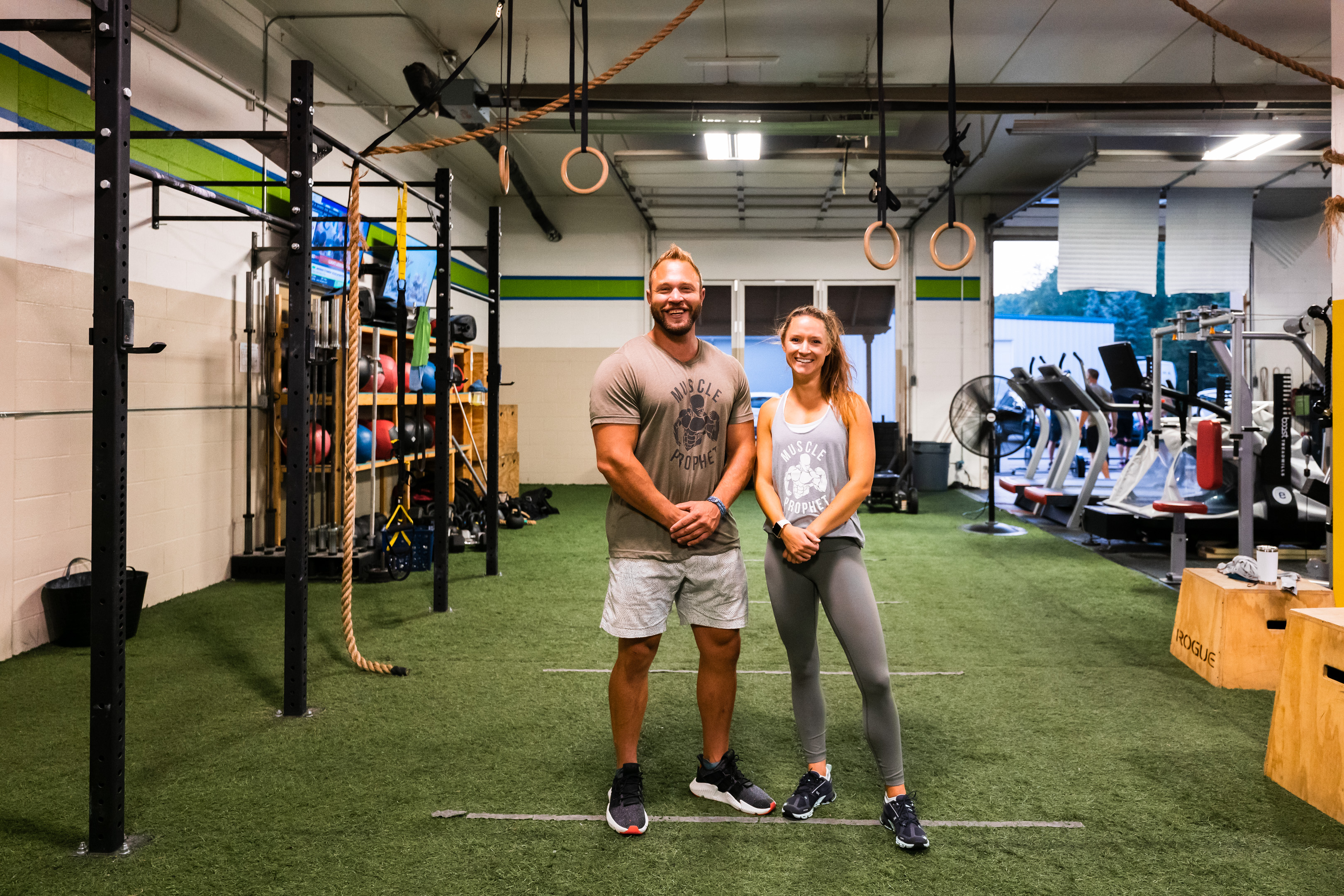 Personal trainers Mark Dominique and Chelsea Clark at Prevail