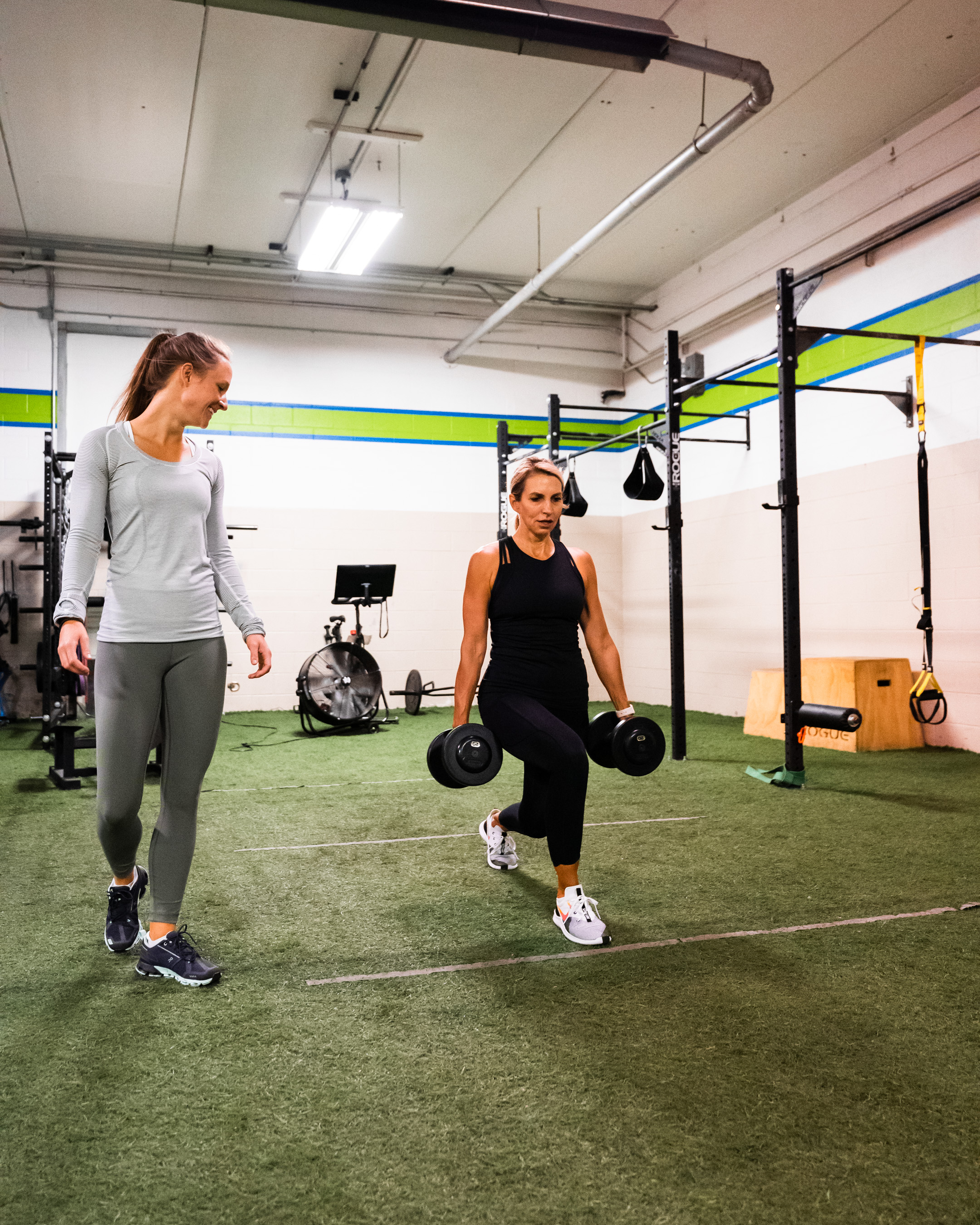 One-on-one training at Prevail Grand Rapids personal training and gym located in Ada, Michigan.
