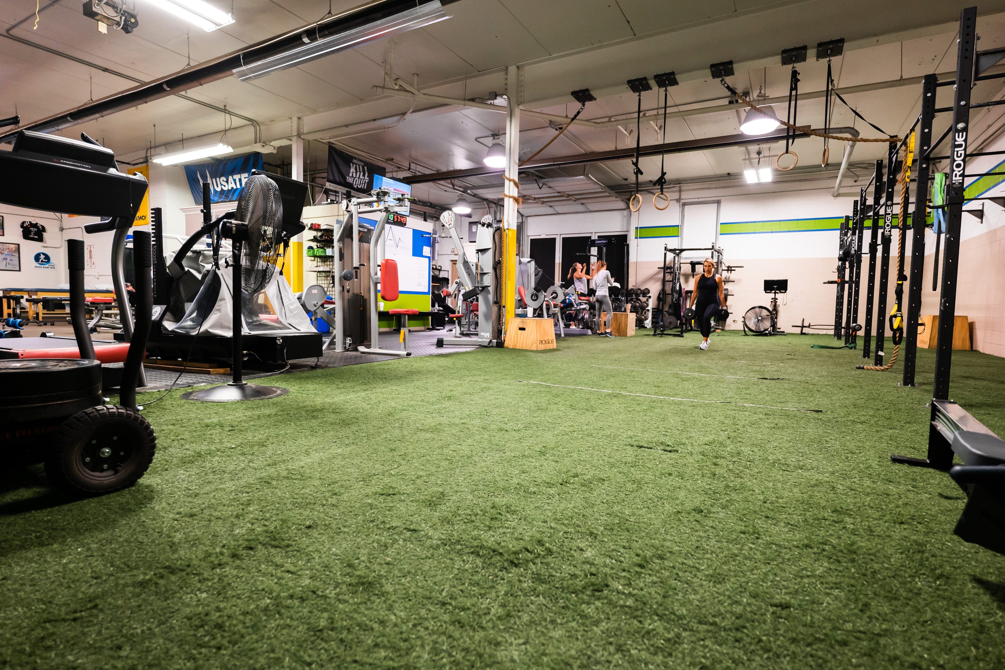 Gym space at Prevail Grand Rapids personal training and gym located in Ada, Michigan.