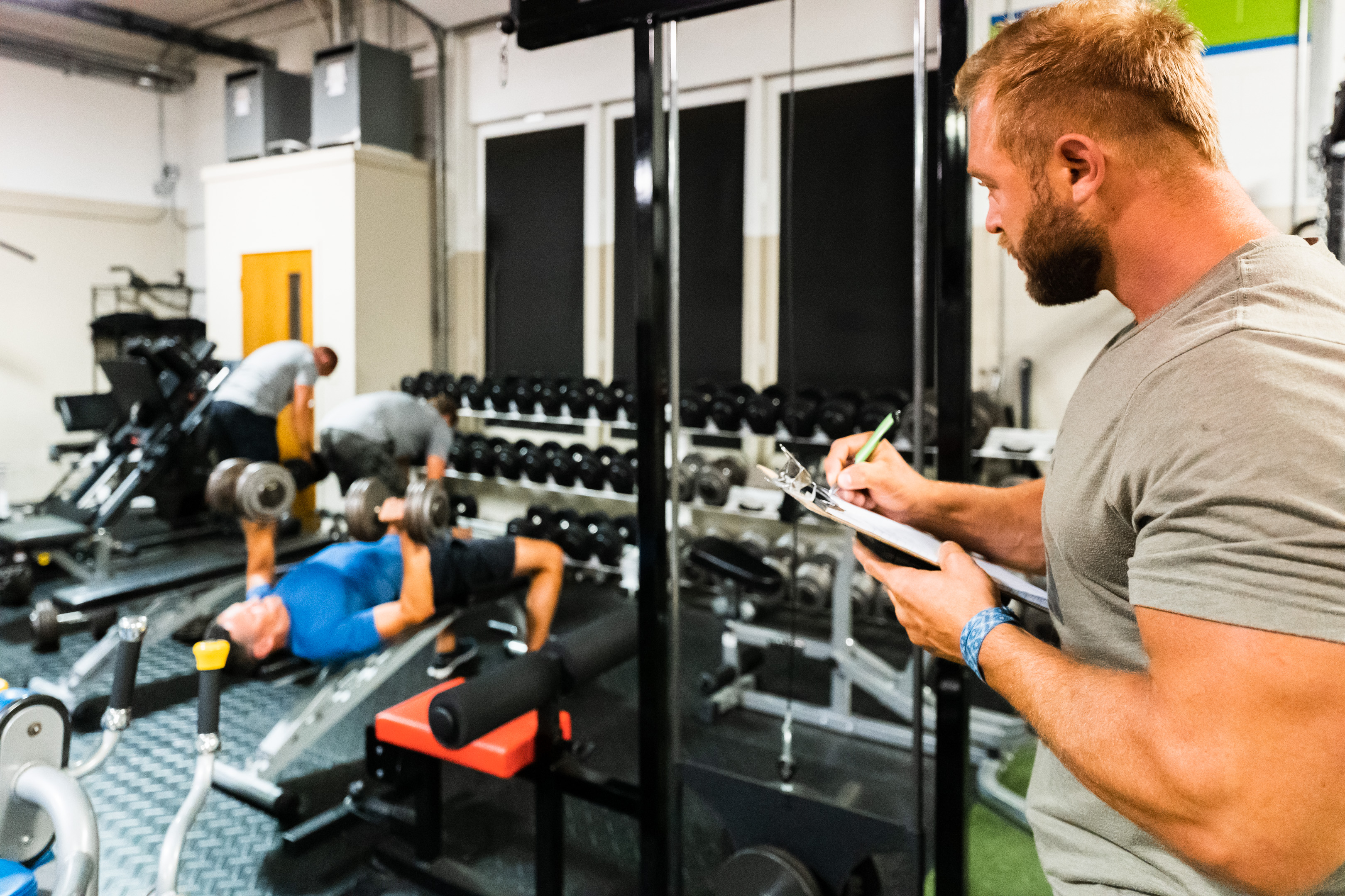 Customer workout plan at Prevail Grand Rapids personal training and gym located in Ada, Michigan.