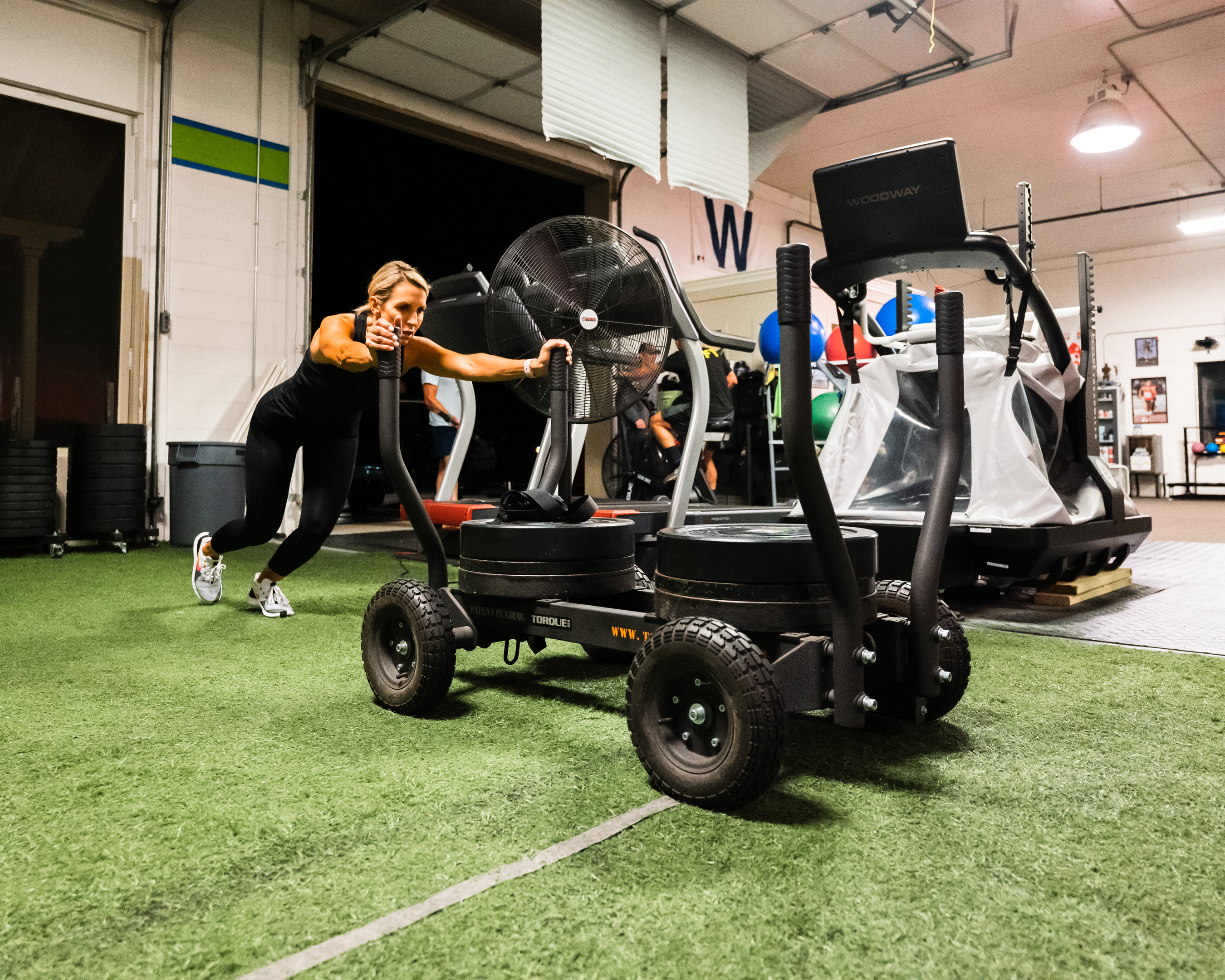 Gym equipment at Prevail Grand Rapids personal training and gym located in Ada, Michigan.