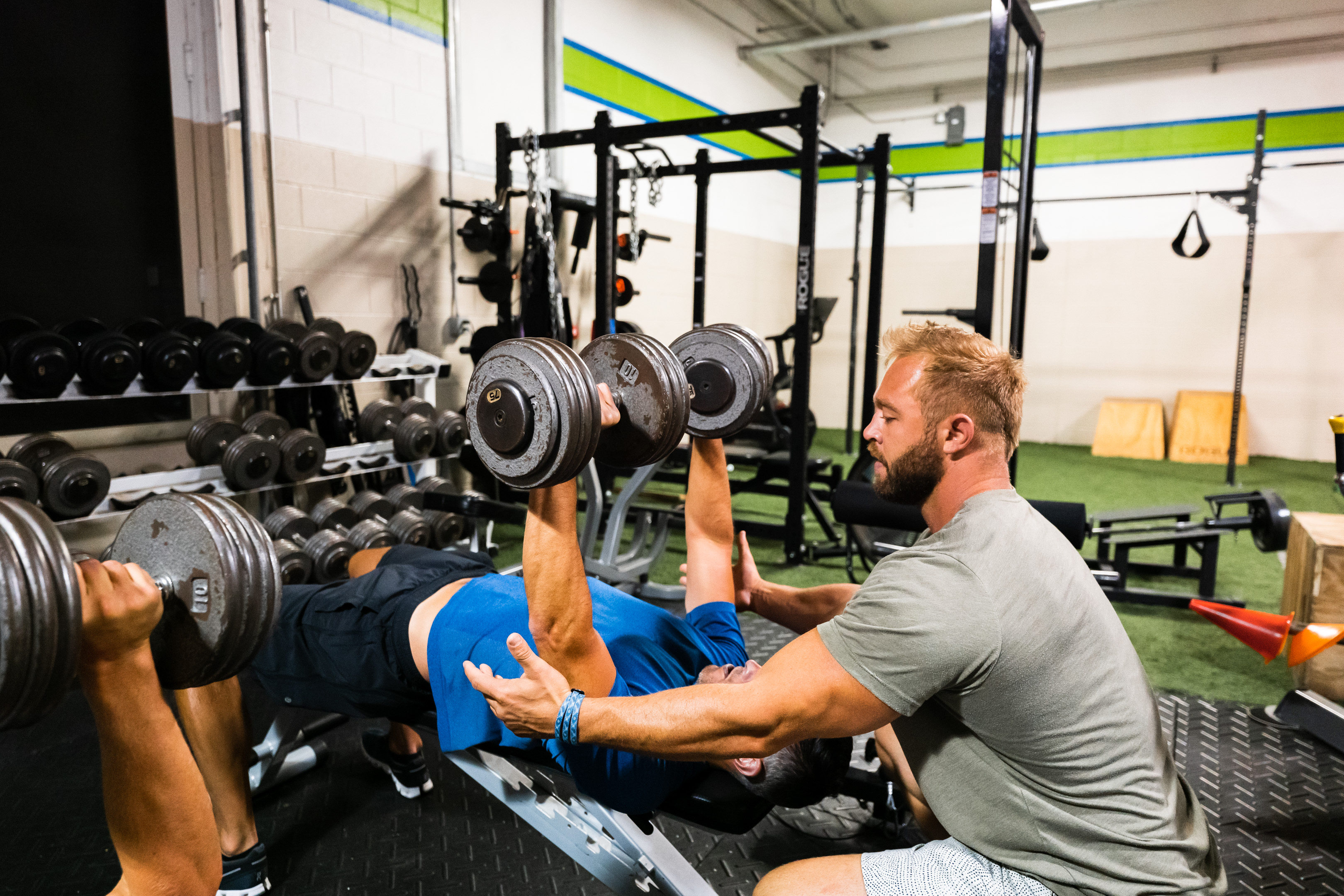 Workout session at Prevail Grand Rapids personal training and gym located in Ada, Michigan.
