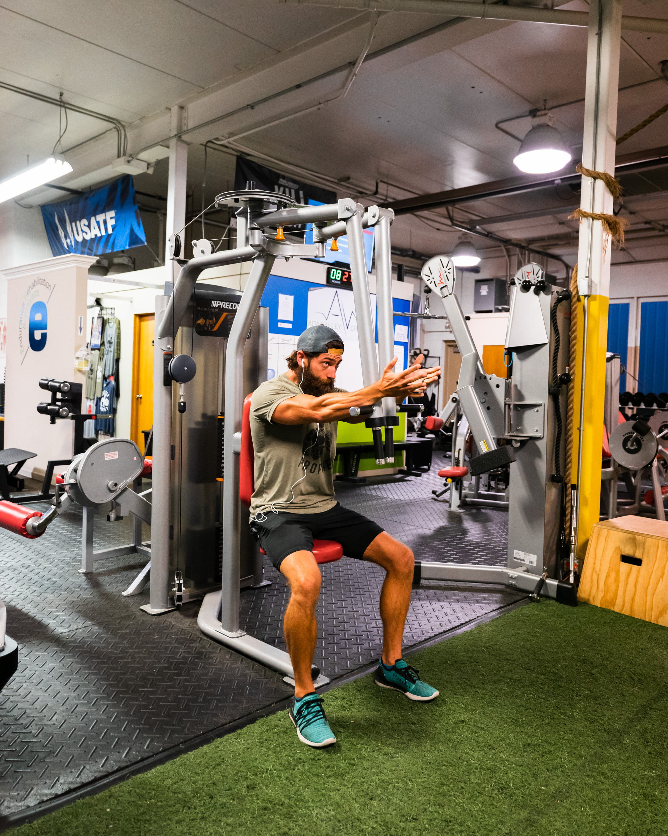 Workout machines at Prevail Grand Rapids personal training and gym located in Ada, Michigan.