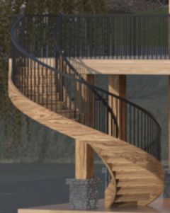 Curved Staircase Image