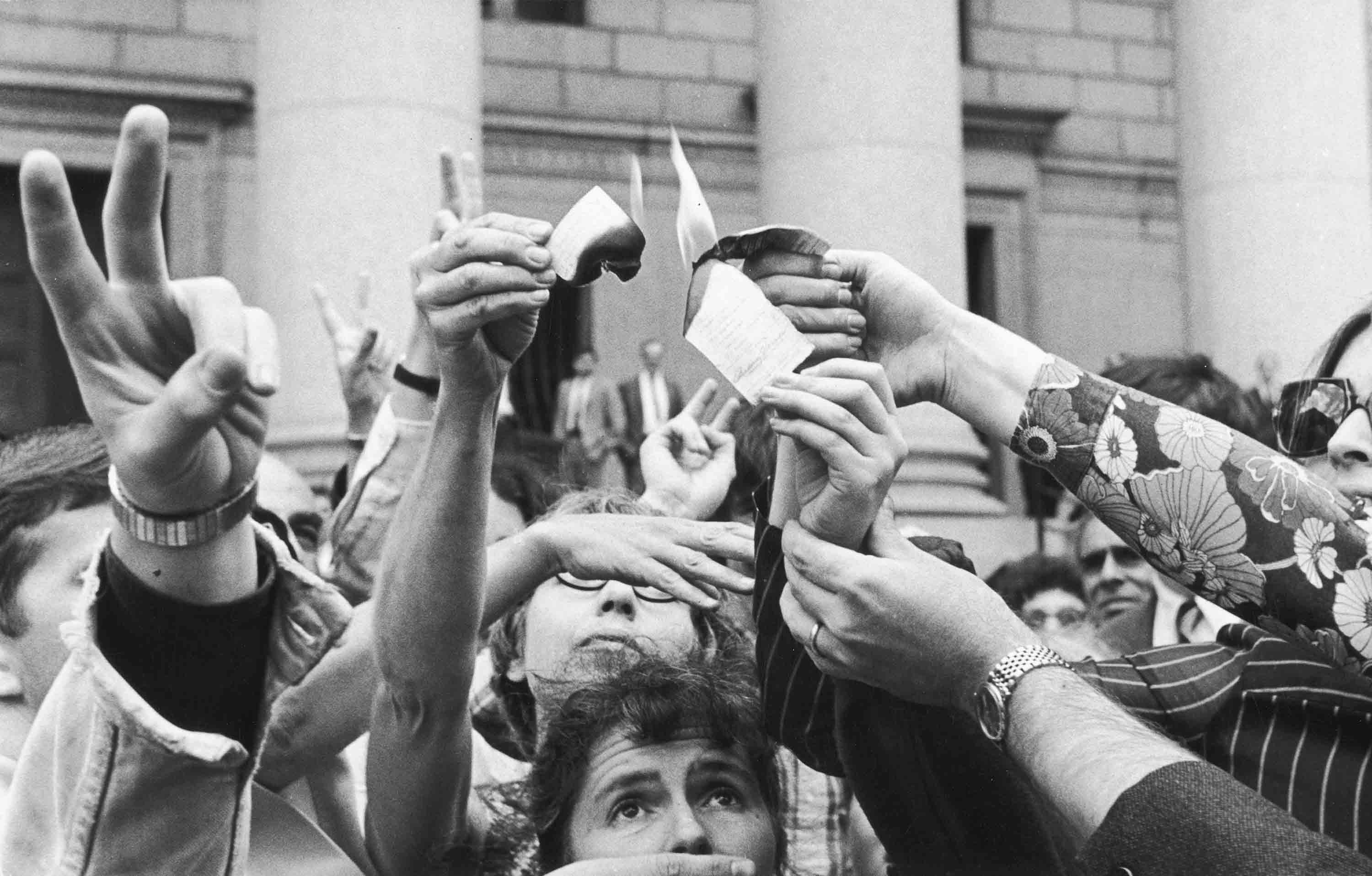 Anti-Vietnam War Protest in Foley Square, NYC, June 18, 1968