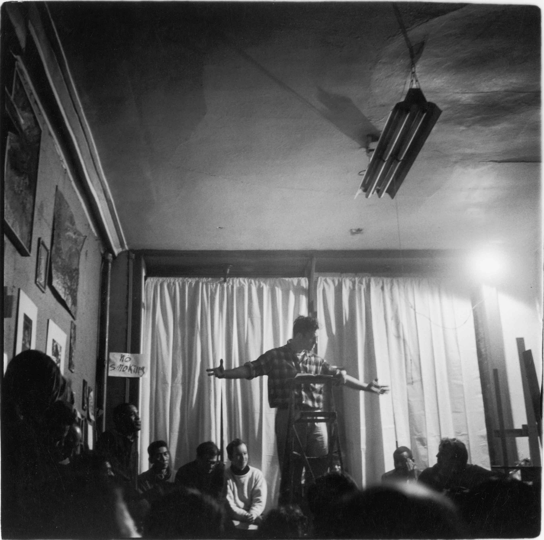 Jack Kerouac Reading Poetry at the Artist's Studio, NYC, February 15, 1959
