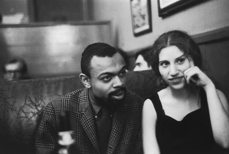 LeRoi Jones (later known as Amiri Baraka) and Diana Di Prima at Cedar Street Tavern, NYC, April 5, 1960