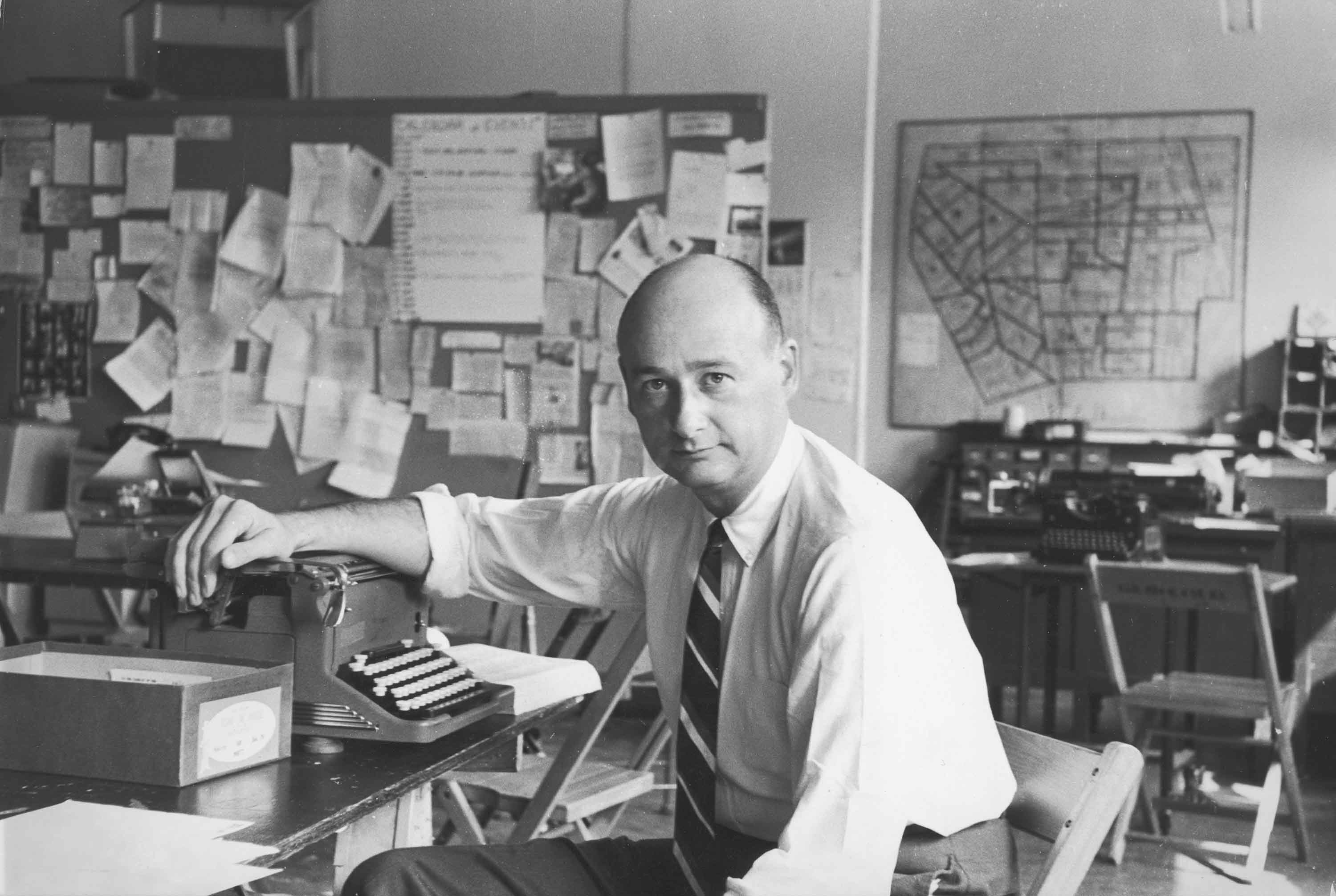 Ed Koch in the Democratic Office at Sheridan Square, NYC, August 24, 1963